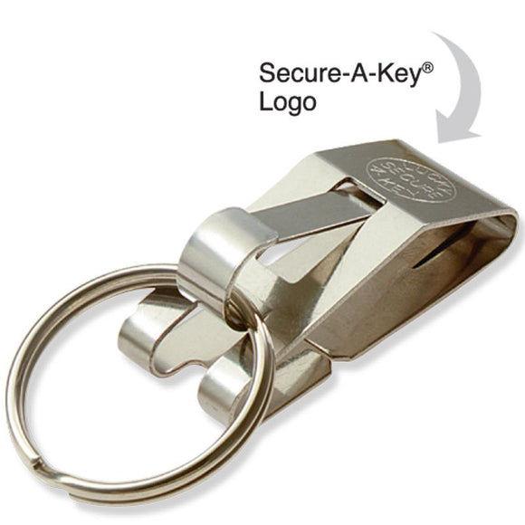 Lucky Line Secure-A-Key slip on belt clip with key ring 405 40501 40512 Nickel