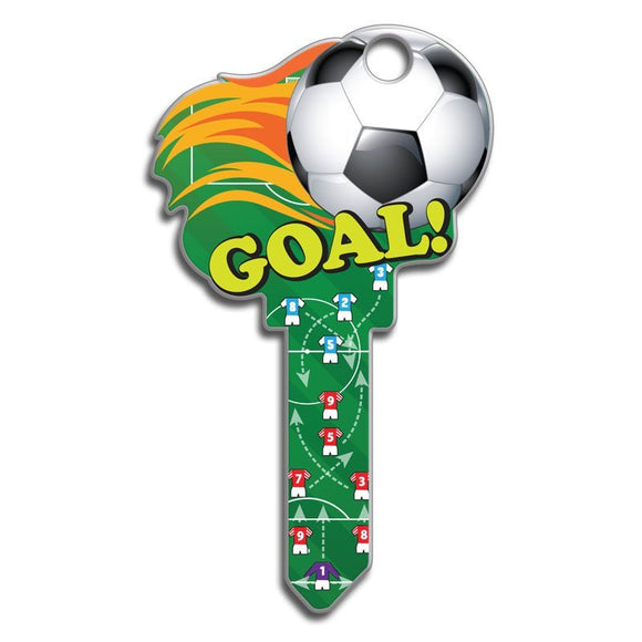 Lucky Line Soccer sports Key Shapes decorative house key B135
