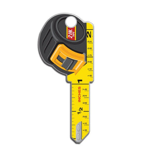 Lucky Line Construction Measuring Tape Key Shapes decorative house key B126