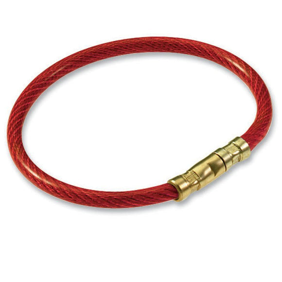 Lucky Line twisty key ring strong flexible corrosion-resistant aircraft cable ring can be permanently closed