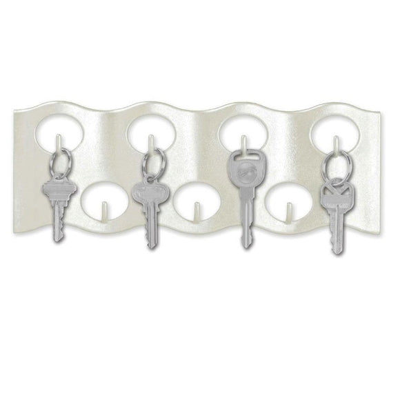 Lucky Line Wavy Key Rack stylish rack to add to your home or office.  Mounted on the wall with adhesive or screws 607