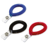 Lucky Line Wrist Coil with Badge Holder superior quality 408 in Black Blue Red Purple Pink
