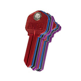 Lucky Line magnetic house key blanks 155 156 purple blue red and black