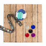 colorful aluminum key tags, dog tags