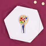 colorful artist Lucky Line Key Shapes custom key