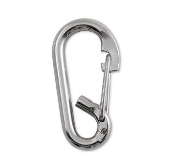 Lucky Line Oval Stainless Loop Spring Snaps, Wire Gate closed eye isolates rope  stainless steel for heavy or outdoor applications