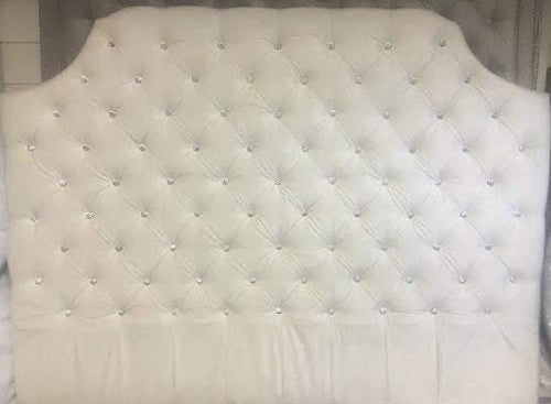 Belgrave Diamond Tufted Headboard with Crystal Buttons (King, Tall) - Handcrafted by Samantha