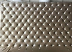 "Oversized Velvet Diamond Tufted Headboard (King 80"" tall) - Handcrafted by Samantha"