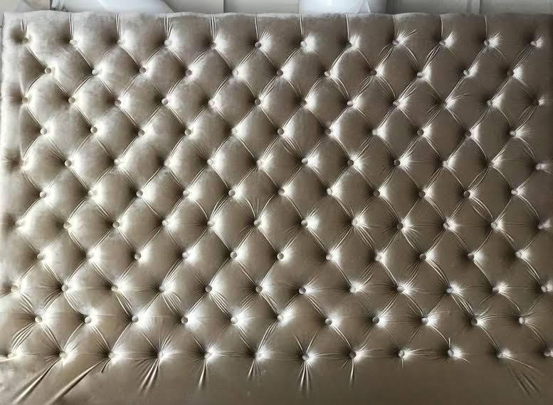 Oversized Velvet Diamond Tufted Headboard (King 80