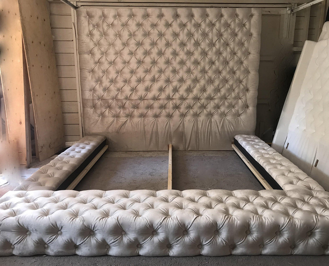 Tufted Headboard and Tufted Bedframe (King size)
