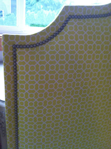 Printed Cavendish  Headboard with Nailheads (Queen, Tall)
