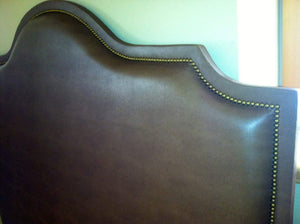 Leather Cavendish Headboard with Nailheads (King, Tall)