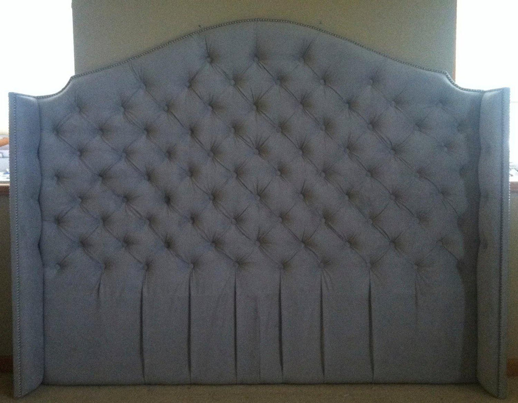 Diamond Tufted Velvet Wingback Headboard (King, Tall)