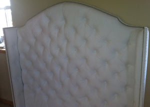 Diamond Tufted Velvet Wingback Headboard (Full, Tall) - Handcrafted by Samantha