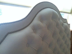 Diamond Tufted Cavendish Headboard With Double Nailhead Border (Queen, Tall)