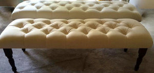 "Decorative Tufted Benches 40-50"" long - Handcrafted by Samantha"
