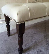 "Load image into Gallery viewer, Decorative Tufted Benches 40-50"" long - Handcrafted by Samantha"