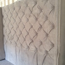 Load image into Gallery viewer, Tufted Headboard- Wingback- Velvet (King, Extra Tall) - Handcrafted by Samantha