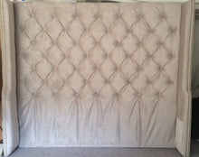 Load image into Gallery viewer, Tufted Headboard- Wingback- Velvet (King, Extra Tall)