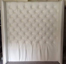 Load image into Gallery viewer, Diamond Tufted Faux Leather Wingback Headboard (Queen, Extra Tall)