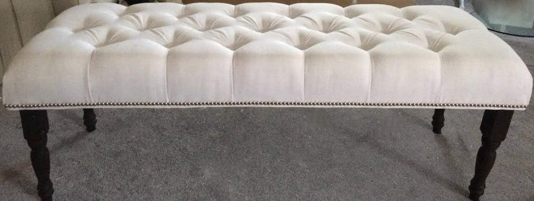 Decorative Tufted Bench with Nailhead Border- 60