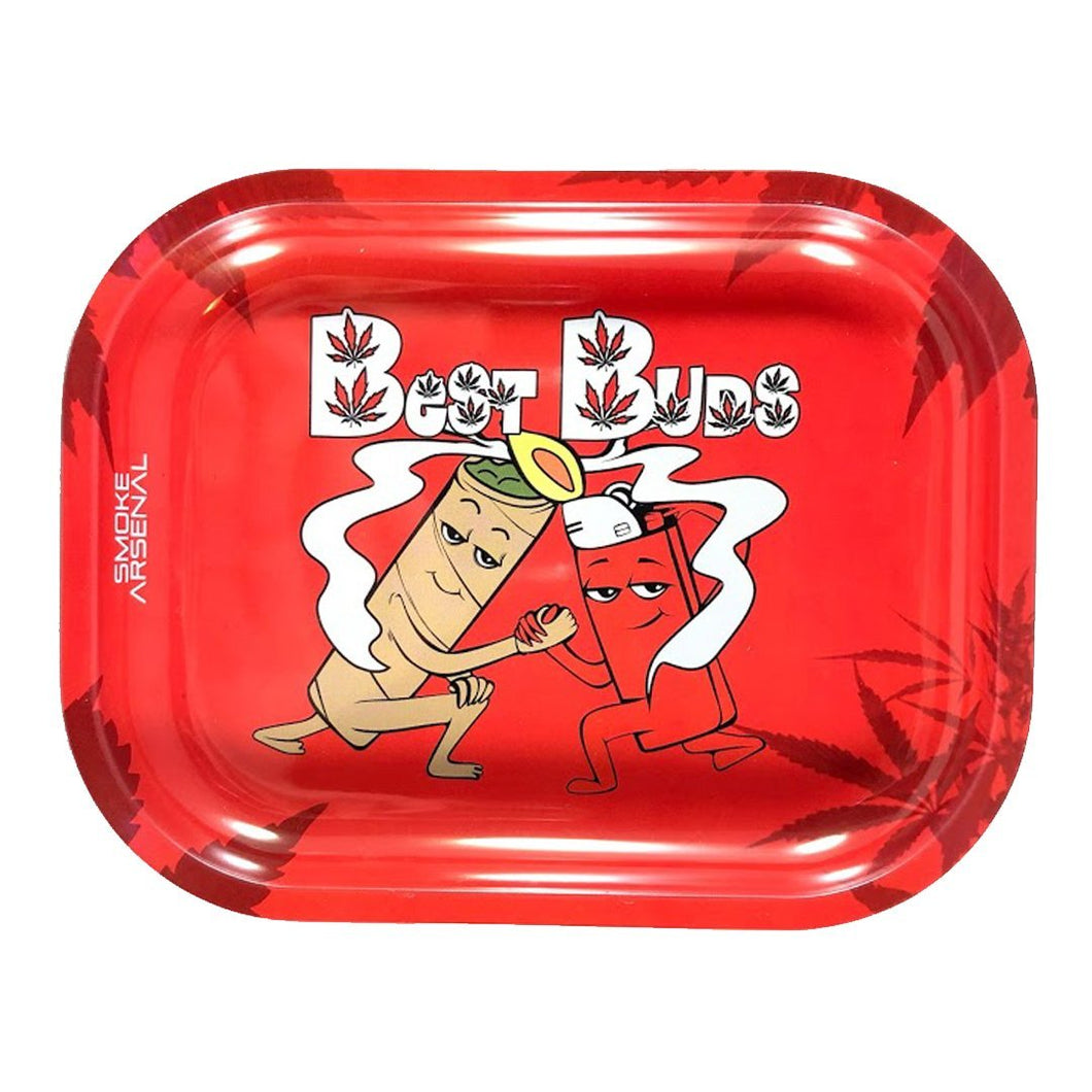 Best Buds Metal Rolling Tray - Small