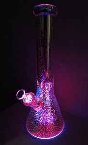 Colour Changing LED Beaker Bong by Marley Glass
