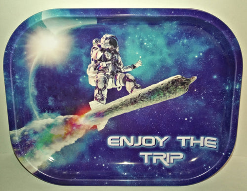 Enjoy The Trip Metal Rolling Tray - Small