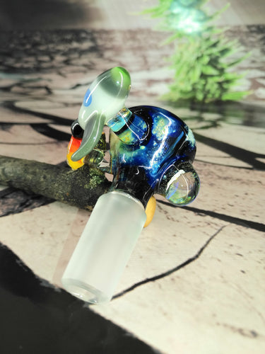 Rocket Ship Galaxy bowl by T-Rex Glass