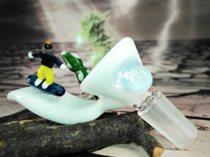 Snowboard Dude Bowl by T-Rex Glass