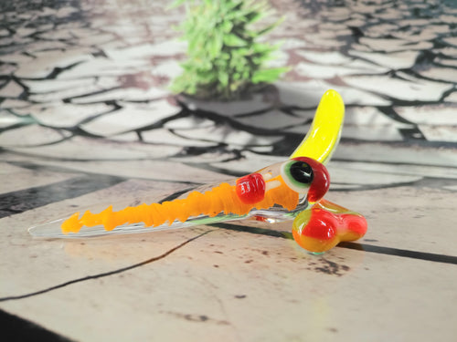 Tropical Swirl Orange & Yellow Spud Dabber by Sweers Glass