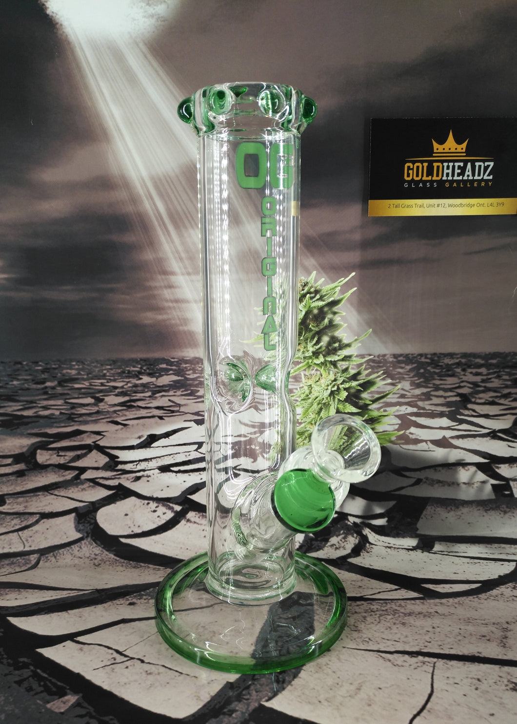 Ice Pinch Straight Tube Bong by OG Original