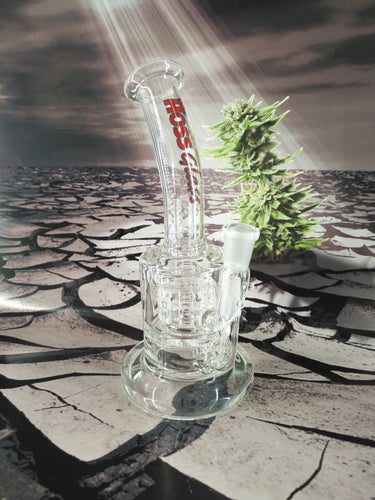 Cylinder Percolator Dab Rig by HOSS Glass