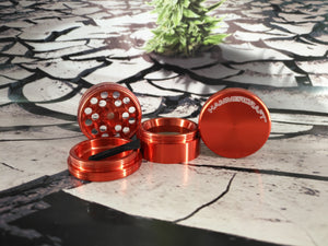 "1.5"" Red CNC 4 Piece Grinder by HammerCraft"