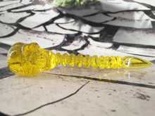 Load image into Gallery viewer, Yellow/Orange Skull Spine Dabber by Scoz Glass
