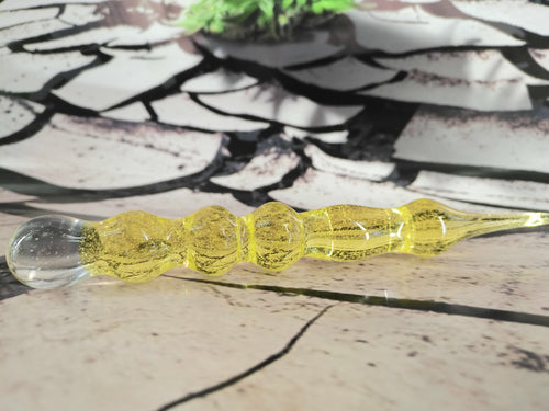 Yellow/Pink Colour Change Dabber by Dan Rushin Glass