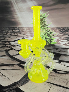 3 Line Yellow Hourglass Recycler by MIMZY