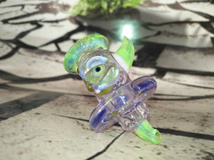 Purple/Green Mutant Carb Cap by Ghost Cat Glass