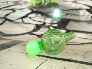 Two Tone Green Carb Cap by Dan Rushin Glass