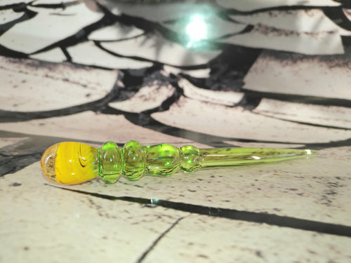 Green/Honey Swirl Dabber by Sweers Glass