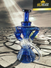 Load image into Gallery viewer, Blue Hourglass Recycler by Happy Time Glass