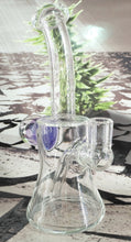 Load image into Gallery viewer, Purple/Blue Fireworks Dab Rig by Pied Piper Glass