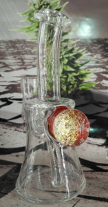 Orange Fireworks Dab Rig by Pied Piper Glass