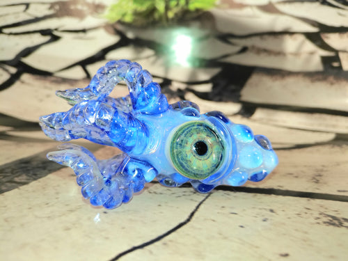 Ocean Blue Kraken Pendant by Krakenz Glass