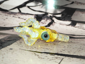 Sunrise Yellow Mini Kraken Pendant by Krakenz Glass