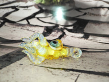 Load image into Gallery viewer, Sunrise Yellow Mini Kraken Pendant by Krakenz Glass