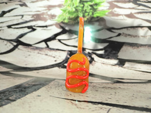 Ketchup Corn-dog UV Pendant by Dan Rushin Glass