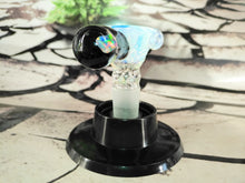 Load image into Gallery viewer, Ice Blue Alien Bowl by M.E.L.T Glass