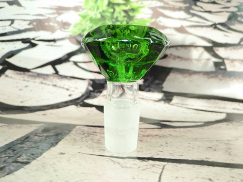 Green Diamond Bowl 18mm by Legendary Glass