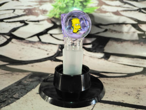 Teen Stoner Bart Simpson Bowl 18mm by Green Belt Glass